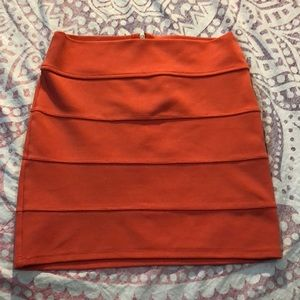 Charlotte Russe mini skirt zip back small